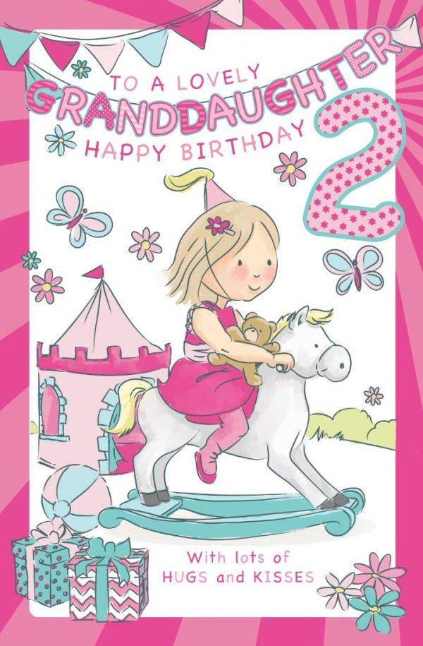Granddaughter Age 2 Birthday Card Crediton Centre
