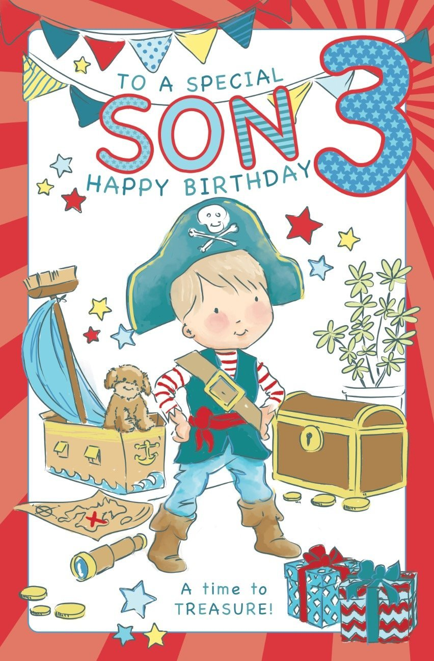 Surprising Son Age 3 Birthday Card Crediton Card Centre Personalised Birthday Cards Paralily Jamesorg