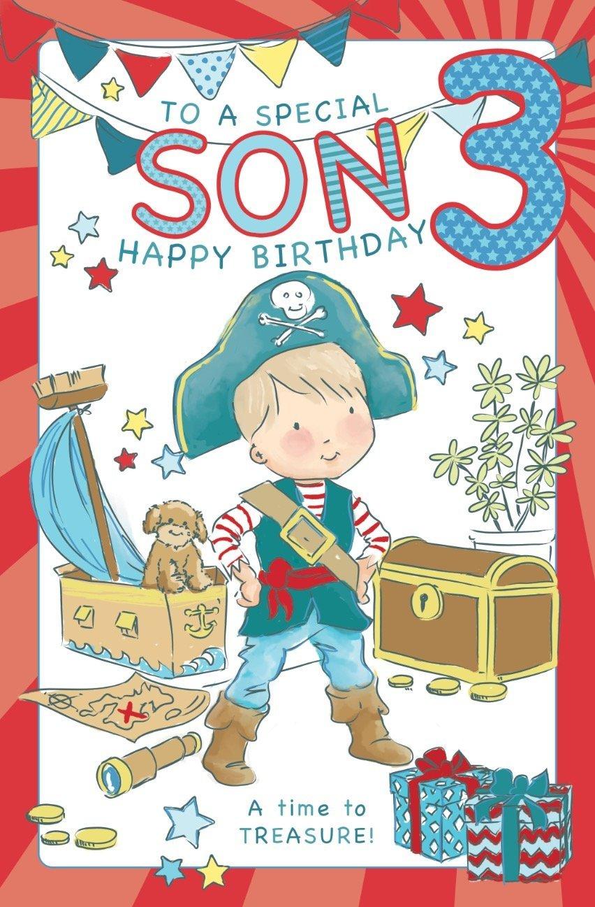 Superb Son Age 3 Birthday Card Crediton Card Centre Funny Birthday Cards Online Elaedamsfinfo