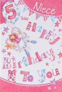 Niece Age 5 Birthday Card Crediton Centre