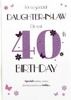 DaughterInLaw 40th Birthday Card Crediton Card Centre