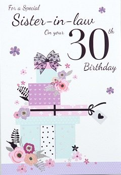 Sister in law 30th birthday card crediton card centre sister in law 30th birthday card bookmarktalkfo Choice Image