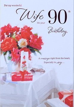 Wife 90th birthday card crediton card centre wife 90th birthday card bookmarktalkfo Choice Image