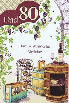 Dad 80th Birthday Card Crediton Centre