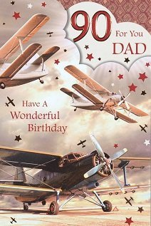 Dad 90th Birthday Card Crediton Centre