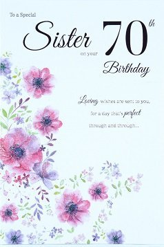 Sister 80th Birthday Card