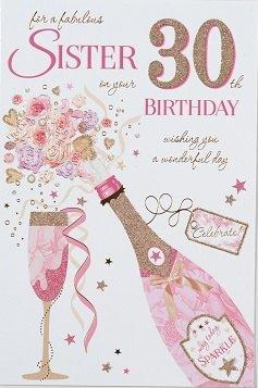 Sister 30th Birthday Card