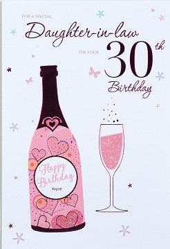Daughter In Law 30th Birthday Card