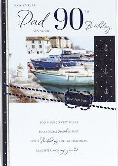 Dad 90th Birthday Card Crediton Centre