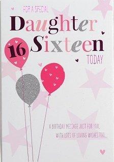 Daughter age 16 birthday card crediton card centre daughter age 16 birthday card bookmarktalkfo Choice Image