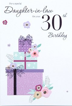 Daughter in law 30th birthday card crediton card centre daughter in law 30th birthday card bookmarktalkfo Image collections