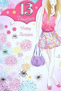 Daughter Age 13 Birthday Card