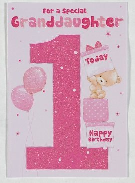 Granddaughter Age 1 Birthday Card