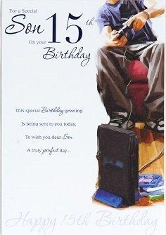 Son age 15 birthday card crediton card centre son age 15 birthday card m4hsunfo