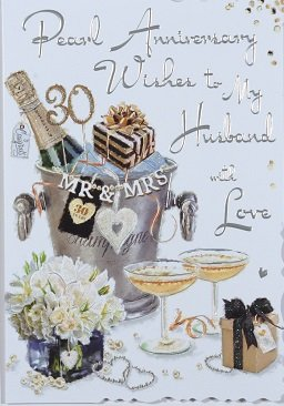 husband pearl wedding anniversary card crediton card centre