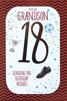 Grandson 18th Birthday Card Crediton Centre