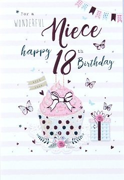 Incredible Niece 18Th Birthday Card Crediton Card Centre Funny Birthday Cards Online Fluifree Goldxyz