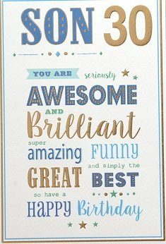 Fabulous Son 30Th Birthday Card Crediton Card Centre Personalised Birthday Cards Cominlily Jamesorg
